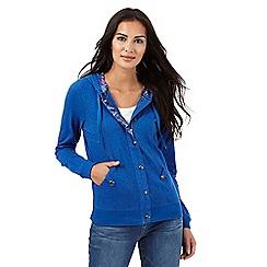 Mantaray - Bright blue marl hoodie