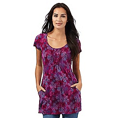 Mantaray - Dark pink floral print tunic