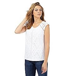 Mantaray - White cut-out t-shirt