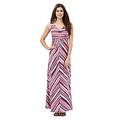 Mantaray - Multi-coloured striped print maxi dress