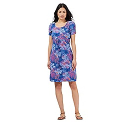 Mantaray - Mid blue floral print dress