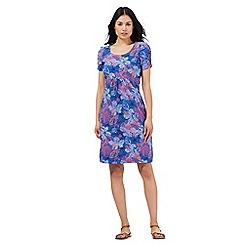 Mantaray - Mid blue floral print dress