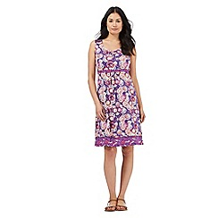Mantaray - Purple printed knee length dress