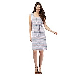 Mantaray - Multi-coloured striped print shift dress