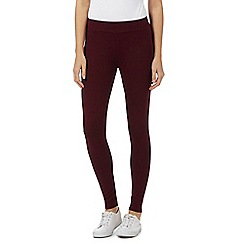 Mantaray - Red stretch ankle leggings