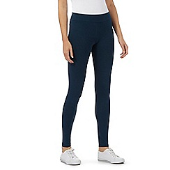 Mantaray - Blue stretch ankle leggings