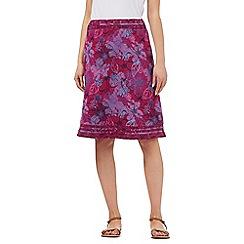 Mantaray - Dark pink floral print skirt