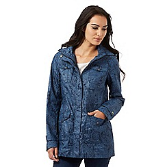 Mantaray - Navy floral print shower proof mac coat