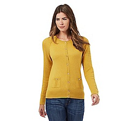 Mantaray - Dark yellow pocket front cardigan