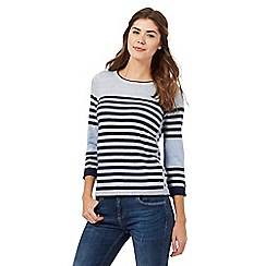 Mantaray - Pale blue striped knit jumper