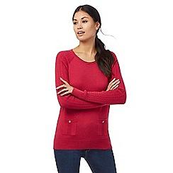 Mantaray - Bright pink pocket jumper