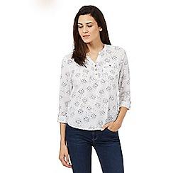 Mantaray - White dotty print shirt