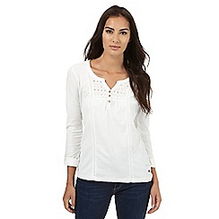 Mantaray - White cut-out yoke top