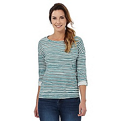 Mantaray - Light green striped t-shirt