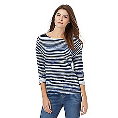 Mantaray - Blue striped print top