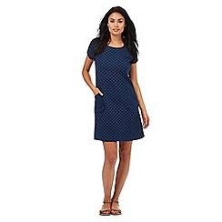 Mantaray - Navy zigzag textured dress