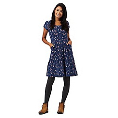 Mantaray - Navy tree print dress