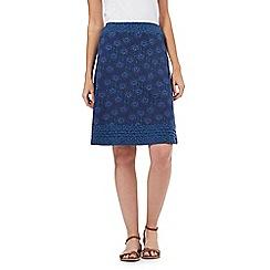 Mantaray - Navy floral print skirt