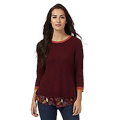 Mantaray - Dark red layered jumper