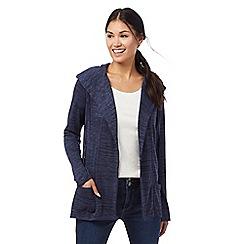 Mantaray - Dark blue hooded cardigan