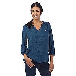 Mantaray - Blue polka dot shirt