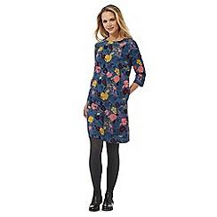 Mantaray - Teal ´ sleeves apple print tunic dress