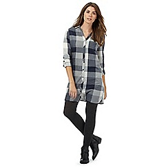 Mantaray - Navy checked print shirt dress