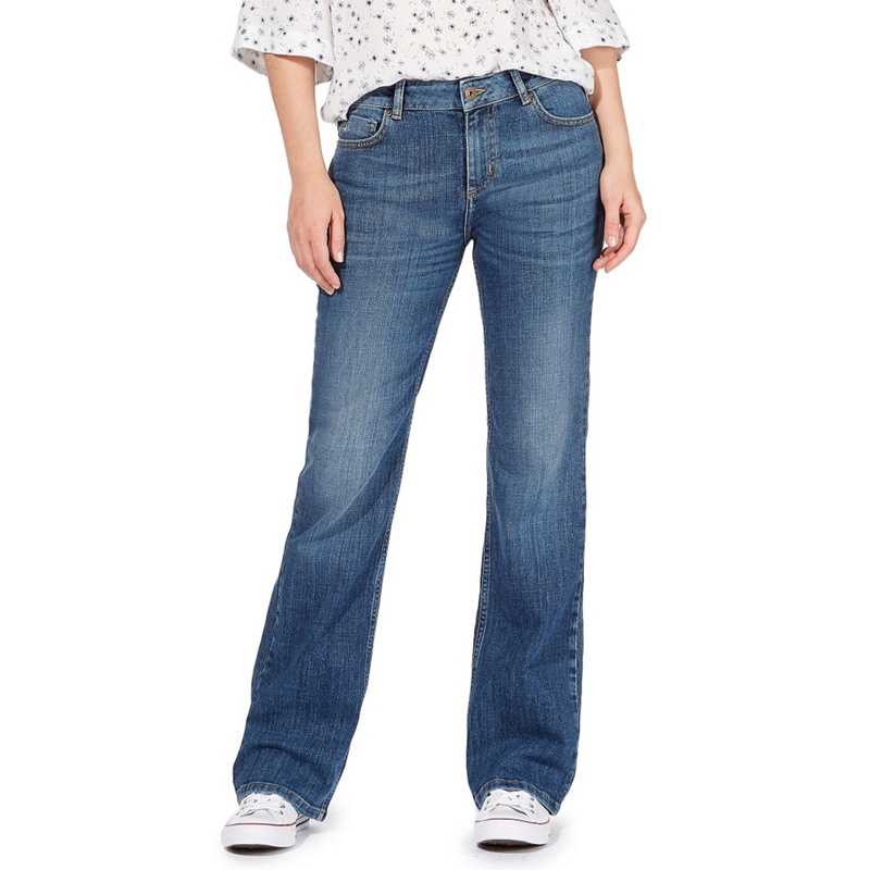 A marriage of bootcut and high waist, these jeans were made specifically to flatter petite silhouettes — hard to find from premium denim brands, which usually have super-long inseams.
