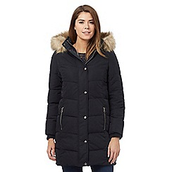 Mantaray - Navy fur hood puffa jacket