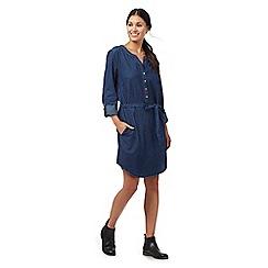 Mantaray - Dark blue printed denim dress