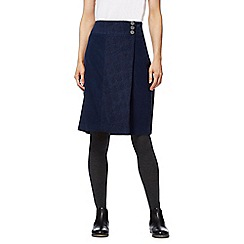 Mantaray - Navy cord wrap skirt