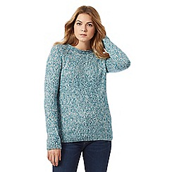 Mantaray - Turquoise chunky knit jumper