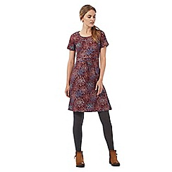Mantaray - Dark red floral print dress