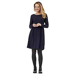 Mantaray - Navy long sleeve knit dress