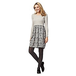 Mantaray - Grey knitted printed dress