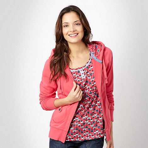 Mantaray - Pink zip through hoodie