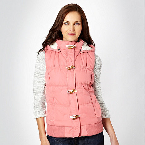Mantaray - Dark pink hooded toggle gilet