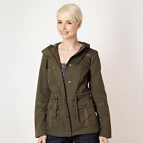 Mantaray - Khaki shower proof parka jacket