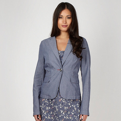Mantaray - Blue chambray blazer