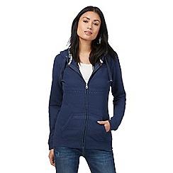 Mantaray - Navy zip-through hooded sweatshirt