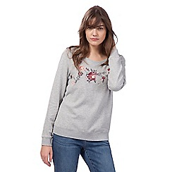 Mantaray - Grey floral embellished sweater