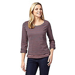 Mantaray - Pink striped layered top