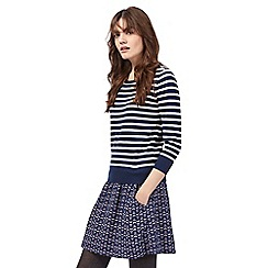 Mantaray - Navy striped jumper dress