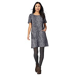 Mantaray - Navy jacquard tunic dress