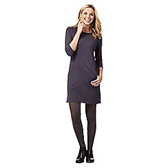 Mantaray - Dark grey striped tunic dress
