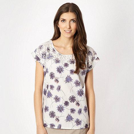 Mantaray - Off white woven floral top