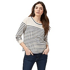 Mantaray - Dark cream striped jumper