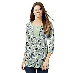 Mantaray - Light green floral print tunic
