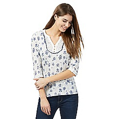Mantaray - Ivory circle printed top