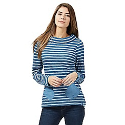 Mantaray - Dark blue striped top